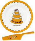 Набор для торта Пирожное, блюдо Ø27см и лопатка 27см (керамика)