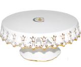 """Подставка для торта """"Золотая Лилия"""" Ø24.5см, фарфор"""