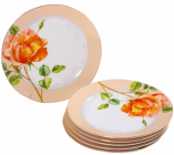"""Набор 6 десертных тарелок """"Китайская Роза"""" Ø18см"""