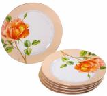 """Набір 6 десертних тарілок """"Китайська Троянда"""" Ø18см"""