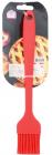 Кисть силіконова 21х3.5х1см, червона з пластиковою ручкою