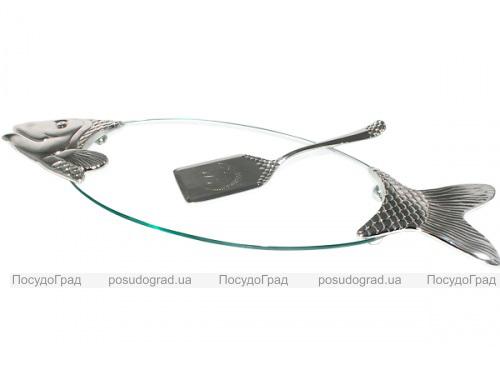 Блюдо BIG FISH сервировочное 58х20см для рыбы с лопаткой