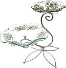 Фруктовница Flowers 2-х ярусная декоративная 30х20см