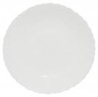 Набор 6 десертных тарелок Infinite Tenderness белые Ø19см, стеклокерамика