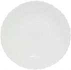 Набор 6 обеденных тарелок Infinite Tenderness белые Ø21.5см, стеклокерамика