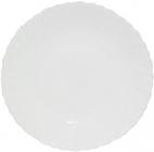 Набір 6 обідніх тарілок Infinite Tenderness білі Ø21.5см, склокераміка