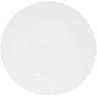 Набор 6 обеденных тарелок Infinite Tenderness белые Ø24см, стеклокерамика