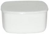 Салатник с крышкой Infinite Tenderness белый Ø14см, стеклокерамика