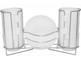 Чайний набір Infinite Tenderness 6 чашок 250мл і 6 блюдець на підставці, склокераміка