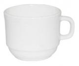 Набор 6 чашек Infinite Tenderness белые 250мл, стеклокерамика