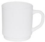 Набор 6 чашек Infinite Tenderness белые 280мл, стеклокерамика
