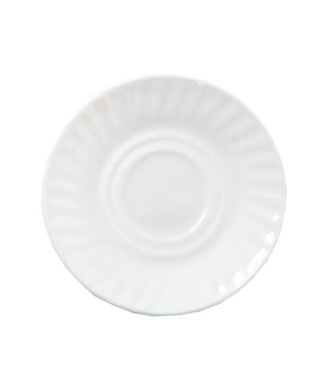 Набор 6 блюдец Infinite Tenderness белые Ø14см, стеклокерамика