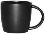 Кружка керамическая Black Style 280мл черная