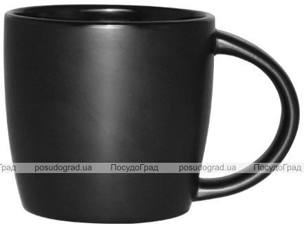 Кружка керамическая Black Style 320мл черная