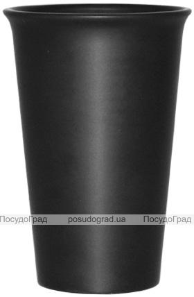 Стакан керамический Black Style 400мл черный