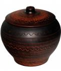Горшок для запекания Славянский подарок 700мл Дымленая керамика