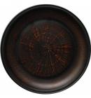 Тарелка керамическая Славянский подарок Ø20см Дымленая керамика