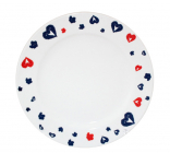 "Набір 8 тарілок ""Happy Heart"" Ø19.5см, кераміка"