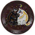 """Тарелка """"Добра глина"""" Толстые коты, Ø22.5см"""