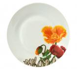 """Набор 6 десертных тарелок """"Оранжевый мак"""" Ø19см, керамика"""