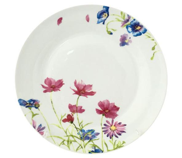 """Набор 6 десертных тарелок """"Розовый цветок"""" Ø19см"""