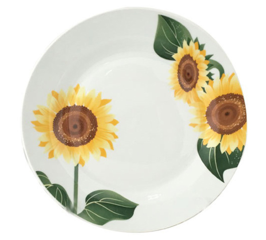 """Набір 6 десертних тарілок """"Соняшники"""" Ø19см"""