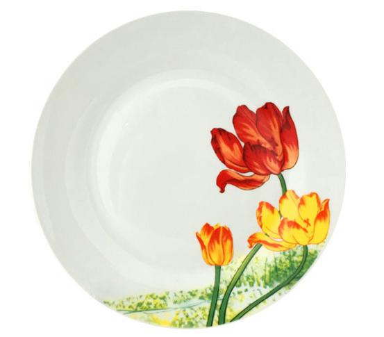 """Набір 6 десертних тарілок """"Тюльпан"""" Ø19см"""
