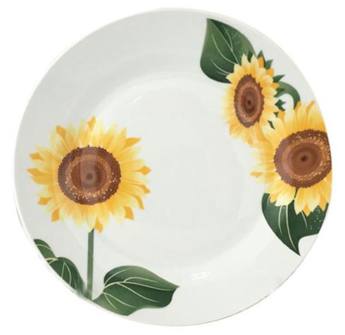 """Набор 6 мелких тарелок """"Подсолнухи"""" Ø20см"""