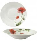 """Набор 6 суповых тарелок """"Красный мак"""" Ø20см, керамика"""
