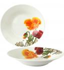 """Набор 6 суповых тарелок """"Оранжевый мак"""" Ø20см, керамика"""