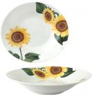 """Набір 6 супових тарілок """"Соняшники"""" Ø20см, кераміка"""