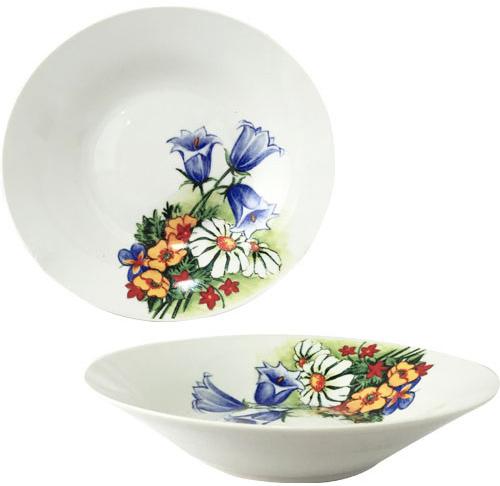 """Набор 6 суповых тарелок """"Колокольчики"""" Ø20см, керамика"""