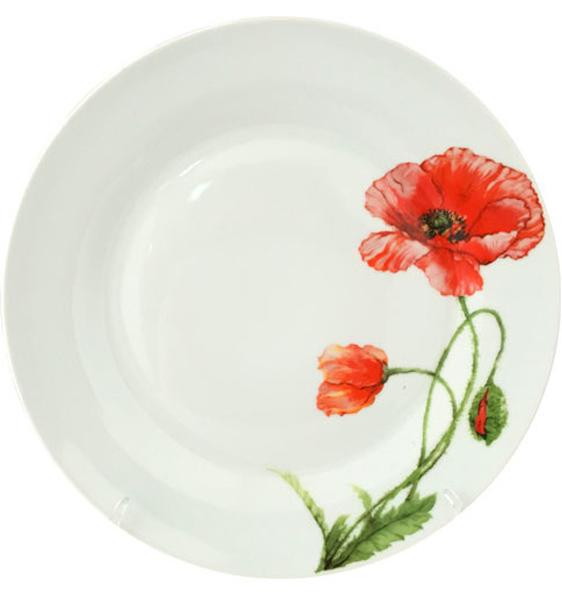 """Набор 6 подставных тарелок """"Красный мак"""" Ø26.5см"""