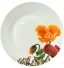 """Набір 6 підставних тарілок """"Помаранчевий мак"""" Ø26.5см"""
