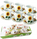 """Чайний набір """"Соняшники"""" 6 чашок 250мл і 6 блюдець"""