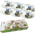"""Чайный набор """"Колокольчики"""" 6 чашек 250мл и 6 блюдец"""