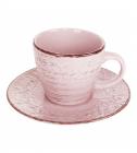 Чайний набір Antique Pink 6 чашок 280мл і 6 блюдець