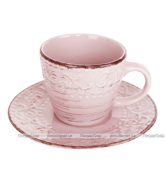 Чайный набор Antique Pink 6 чашек 280мл и 6 блюдец