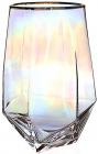 """Набор 6 стаканов Facets """"Rainbow"""" 680мл, цветное стекло с золотым кантом"""
