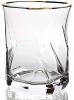 Набор 6 стаканов Facets 360мл, стекло с золотым кантом