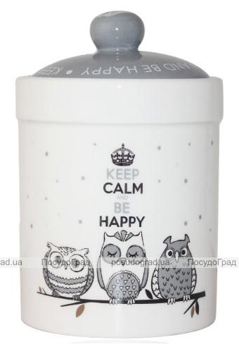 Банка керамическая Be Happy «Совушки» 700мл