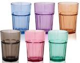 Набор 6 стаканов Colorful 360мл, цветное стекло