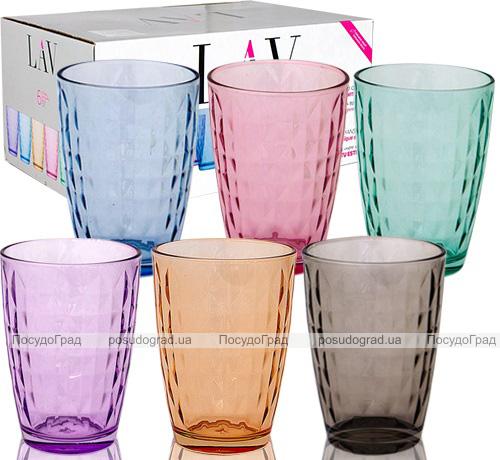 Набор 6 стаканов Colorful 410мл, цветное стекло