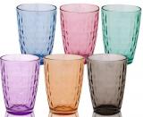 Набір 6 склянок Colorful 410мл, кольорове скло