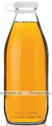 Пляшка скляна Aland 1л з пластиковою кришкою