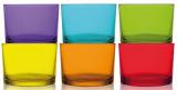 Набор 6 стаканов LAV Радуга 240мл, цветное стекло