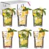 Набір 6 склянок LAV Color 365мл скляні з кольоровим дном