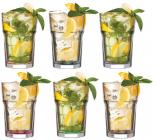 Набор 6 стаканов LAV Color 365мл стеклянные с цветным дном