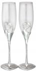 Набор 2 фужера Wedding Two Hearts для шампанского 220мл, стекло+металл