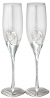 Набір 2 фужера Wedding Two Hearts для шампанського 220мл, скло + метал